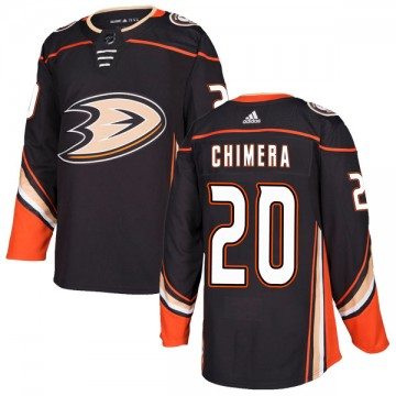 Authentic Adidas Youth Jason Chimera Anaheim Ducks Home Jersey - Black