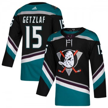 Authentic Adidas Youth Ryan Getzlaf Anaheim Ducks Teal Alternate Jersey - Black