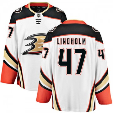 Authentic Fanatics Branded Youth Hampus Lindholm Anaheim Ducks Away Jersey - White